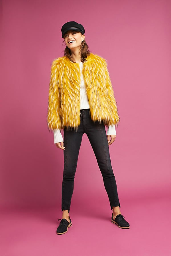 Seen Worn Kept Canary Faux Fur Coat