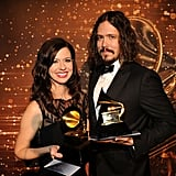 Joy Williams and John Paul White of The Civil Wars held their Grammys after the show this year.