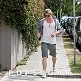Chris Hemsworth wore a tank top and shorts.