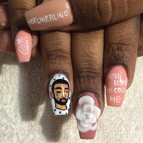 Drake Nail Art