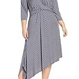 Bobeau Clara Faux Wrap Asymmetrical Dress