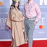 Billie Eilish and Finneas O'Connell at the 2020 BRIT Awards in London