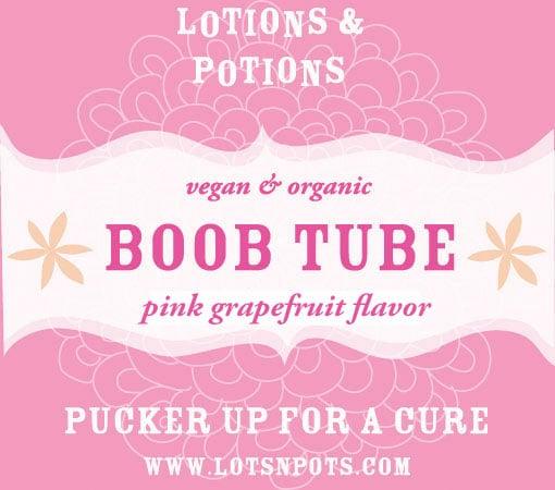 Think Pink: Lotions & Potions Boob Tube Lip Balm