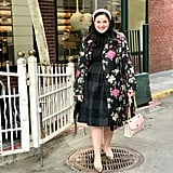 Brocade Trench Coat: Headed to a Party in a Sparkly Skirt and Metallic Heels