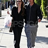 Brad and Angelina Link Up For an Afternoon of Costume Shopping