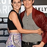 Shailene Woodley posed with Miles Teller at the VMAs.