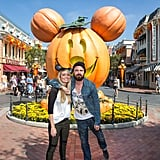 Aaron Paul and his wife, Lauren Parsekian, got into the spirit at Disneyland's Halloween celebrations.