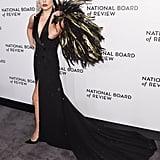 Lady Gaga's Black Tuxedo Dress January 2019