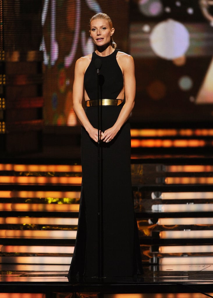 Gwyneth Paltrow introduced Adele at the Grammys.