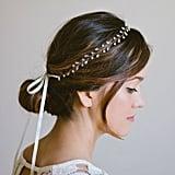 Gold Leaf Wreath Bridal Headband