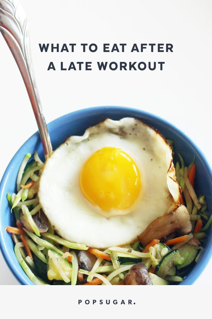 What to Eat After a Late Workout