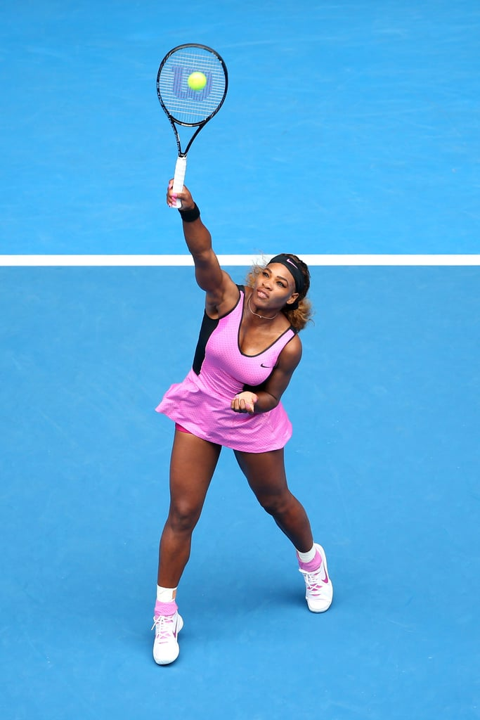 Serena Williams Wore This Pink Mesh Dress Underneath