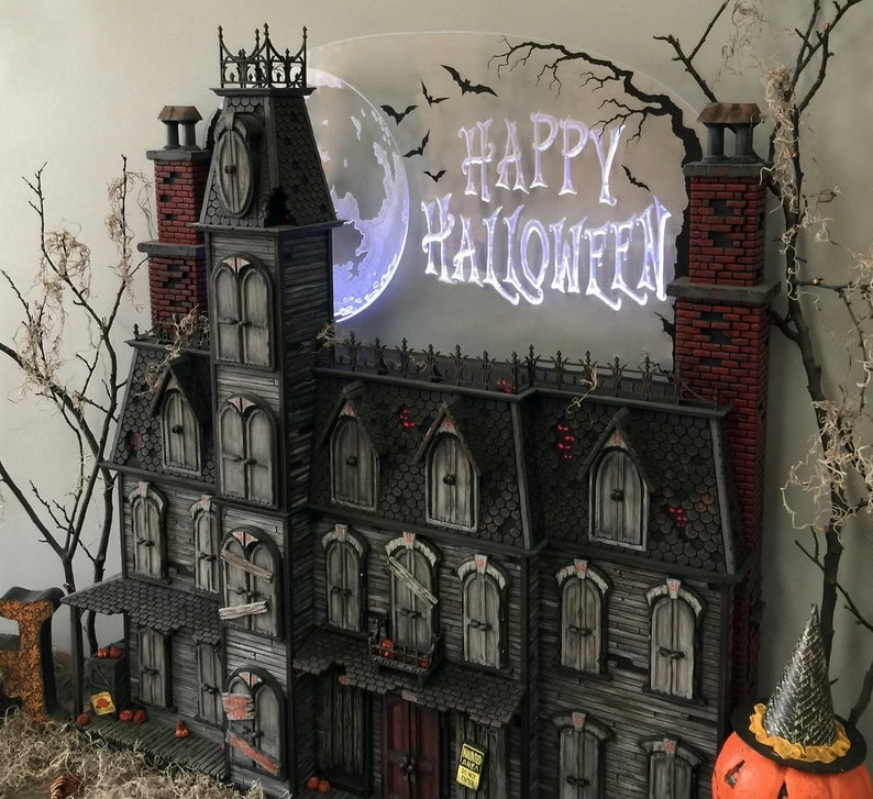 Etsy Spooky Victorian Mansion Halloween Advent Calendar