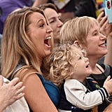 Blake and James couldn't have been any cuter cheering on Ryan at his star ceremony in December 2016.