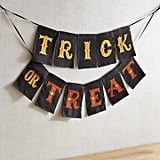 Pier 1 Imports Trick or Treat Halloween Banner