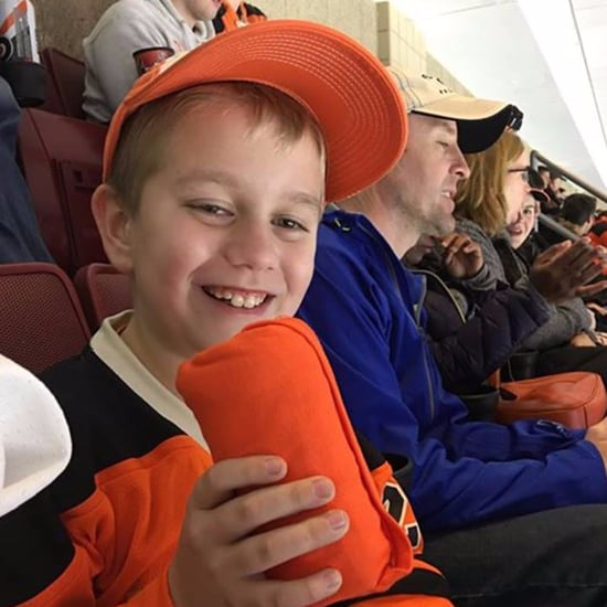 Girl With Autism Gives Away Shirt at Hockey Game