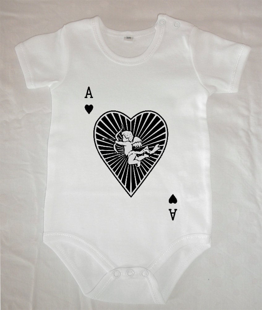 Ace Cupid Heart Onesie