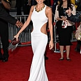 Nicole Richie showed skin in a cutout gown.