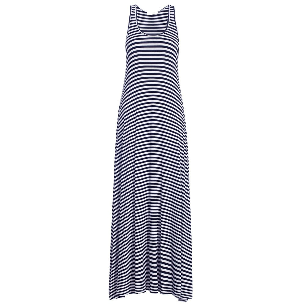I haven't got any plans set in stone yet, but I'll most likely spending the day of New Year's Eve down at the beach. This stripe dress is the perfect beachwear to picnic wear and you'll see me wearing it with an oversized floppy hat and gold sandals. — Steph, health and fitness journalist Dress, $175, Zimmermann