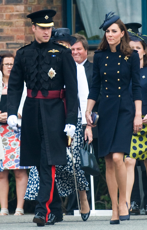 Kate Middleton at King Edwards VII Hospital in 2012