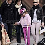 Michelle Williams went out in Brooklyn with Matilda.