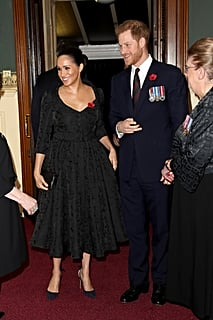 Meghan Markle Chose a Black Brocade Dress For the Royal Family's Important Outing
