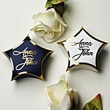 White and Navy Blue Star Wedding Favor Boxes