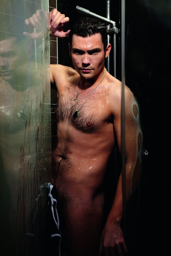 """Dancing on Ice's Sam Attwater has removed his sparkly outfits to reveal his toned body. He posed naked for the April issue of Cosmopolitan UK, on sale today, to raise awareness of male cancer for Everyman. The actor said: """"I'm a performer, so I'm ready for anything. If I had to do a naked scene for a film I'd just get on with it. But that hasn't helped me with women. I'm rubbish! If I'm in a club and see someone I like, I'll just stand there and hope they approach me. I get all shy."""" What do you think of Sam's photoshoot? Photographer credit Nicky Johnston / Courtesy of Cosmopolitan"""