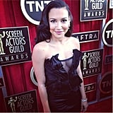 Naya Rivera went for custom Donna Karan Atelier. Source: Instagram user sagawards