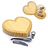 Heart Cheese Board and Tools Set