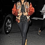 The singer sported a regal quilted Proenza Schouler jacket and celeb-approved Timberlands in November 2012.