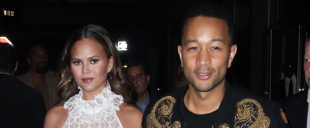 Chrissy Teigen Goes Sheer For a Night Out With John Legend