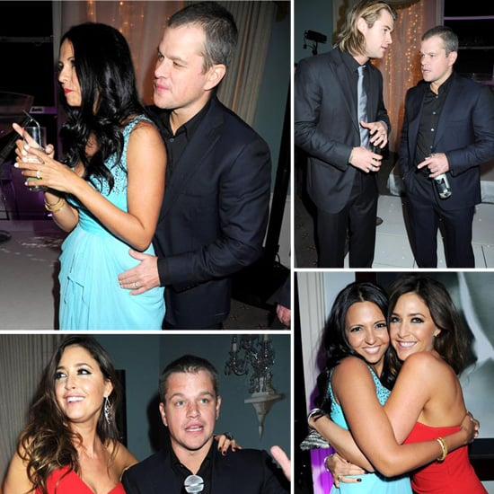 Matt and Luciana Damon at Party in London Pictures ...