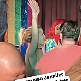 Adele and Jennifer Lawrence at NYC Pieces Gay Bar March 2019