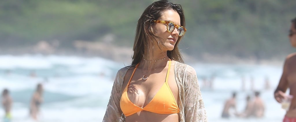 Alessandra Ambrosio's Splashy Bikini Was Completely Transformed With Just Her Cover-Up