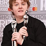 Lewis Capaldi in the Winners Room at the 2020 BRIT Awards