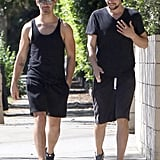 Joe Jonas went for a workout with a buddy in LA on Tuesday.