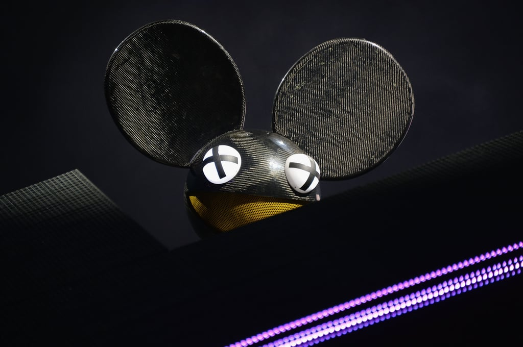 Deadmau5 performed at the Made in America Festival.