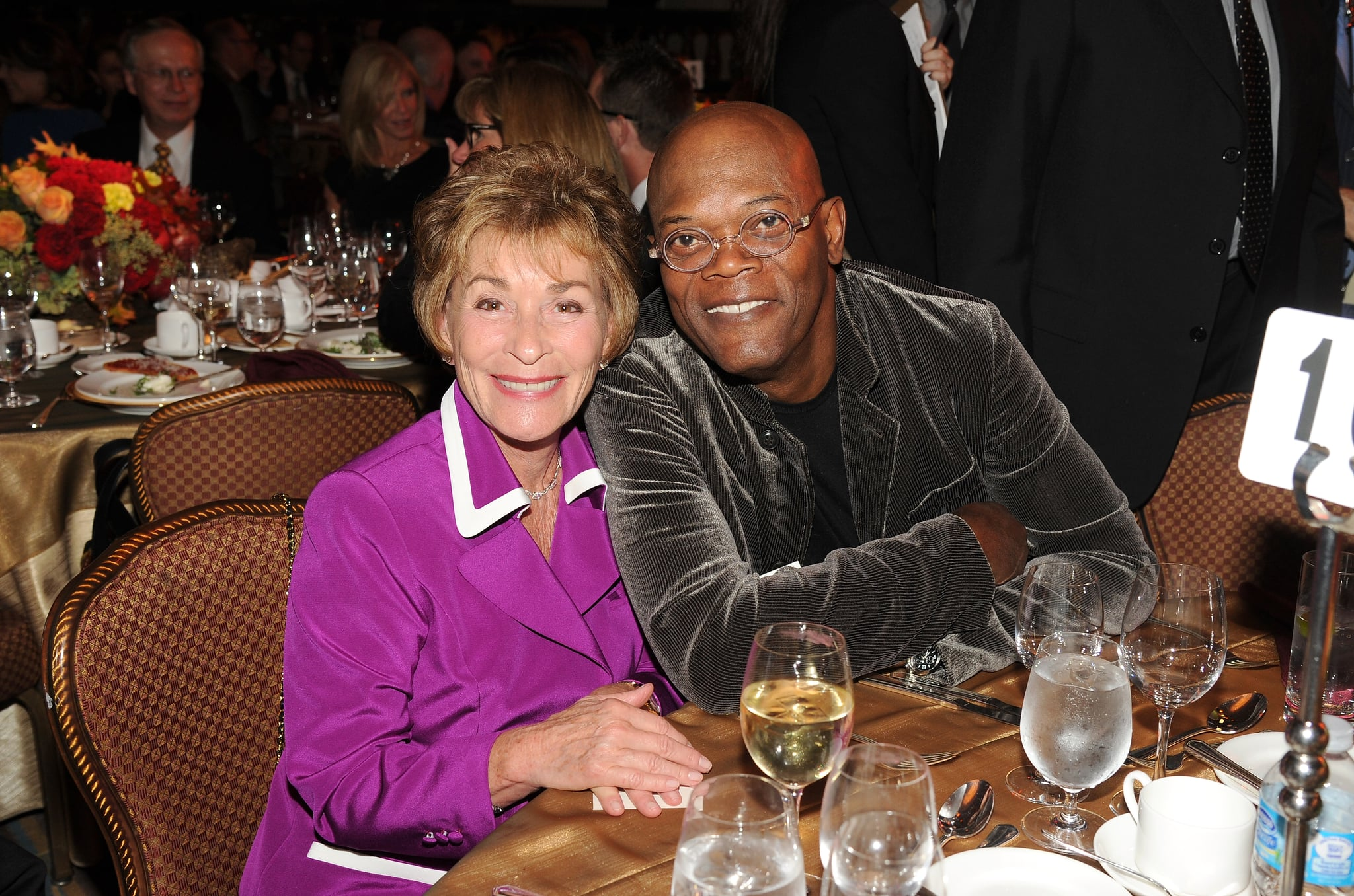 BEVERLY HILLS, CA - NOVEMBER 13:  Actors Judge Judy and Samuel L. Jackson attend the 55th Annual Women's Guild Cedars-Sinai Gala  held on November 13, 2012 in Beverly Hills, California.  (Photo by Jason Merritt/Getty Images)