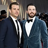Pictured: Scott and Chris Evans