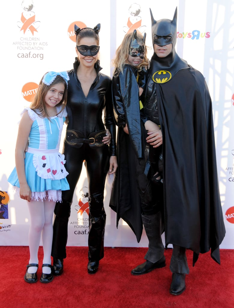 Brooke Burke and Her Family as Catwoman, Batman, and Alice in Wonderland