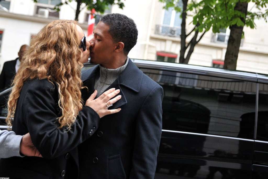 Mariah Carey and Nick Cannon got romantic on the streets of Paris in April.