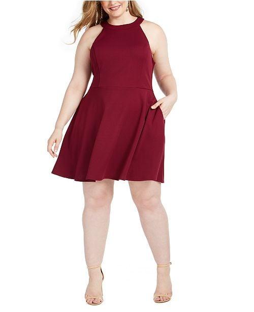 Speechless Trendy Bow-Back A-Line Dress