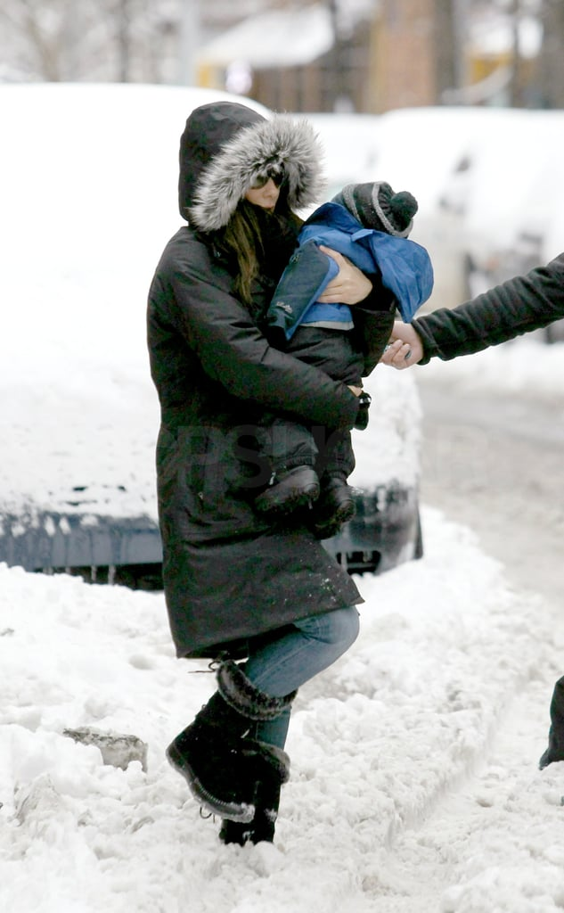 Pictures of Sandra Bullock in NYC With Her Son Louis