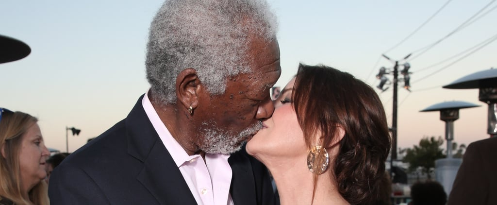 Hot New Couple Alert? Morgan Freeman and Marcia Gay Harden Share a Steamy Kiss on the Red Carpet