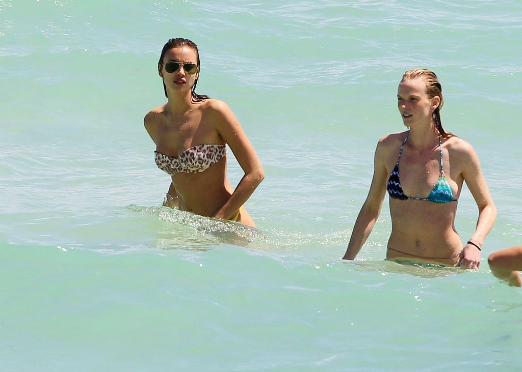 Irina Shayk and Anne V Break Out Their Bikinis in Miami