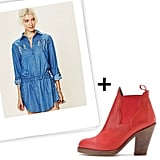 We Love: Denim Dresses + Boots
