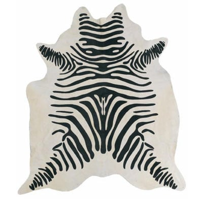 Steal of the Day: Modern Dose Cowhide Zebra Rug