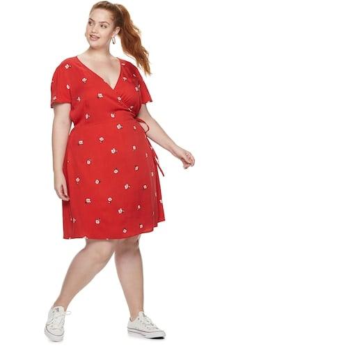 POPSUGAR Plus Size Printed Wrap Dress
