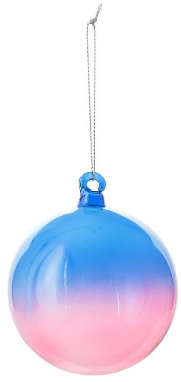 Oliver Bonas Ombre Glass Bauble Decoration